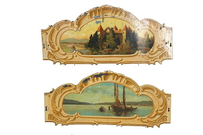 Merry-Go-Round/Carousel Tole Rounding Boards (pair) | Carnival Salvage