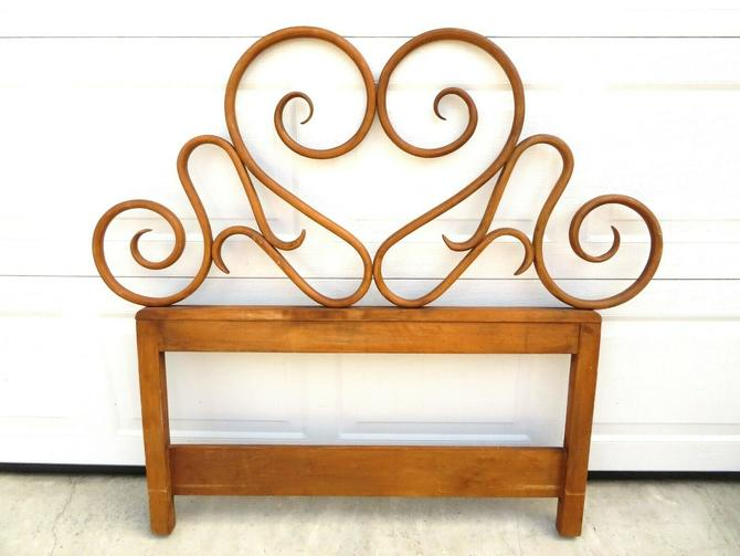ANTIQUE Twin Size BENTWOOD THONET STYLE HEADBOARD Wood Bed Frame ART NOUVEAU