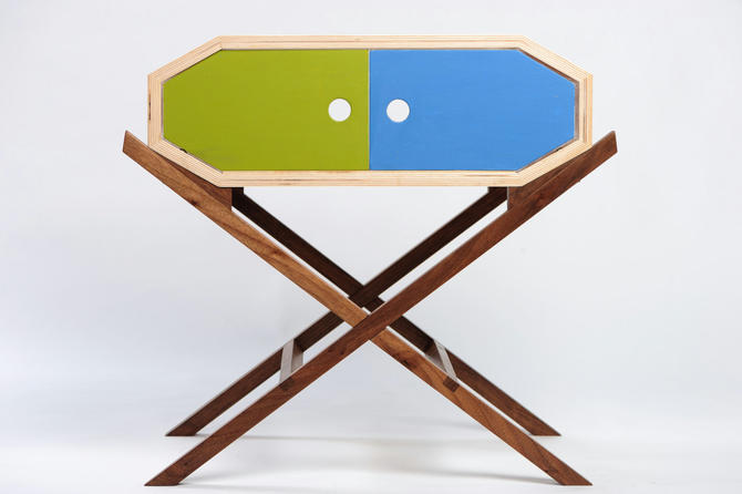 Invader Nightstand or Side Table with Doors by ImagoFurniture