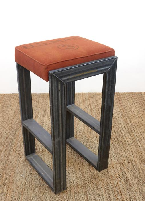 Vintage Mail Bag Bar Stools