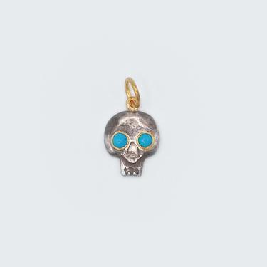Turquoise Skull Charm