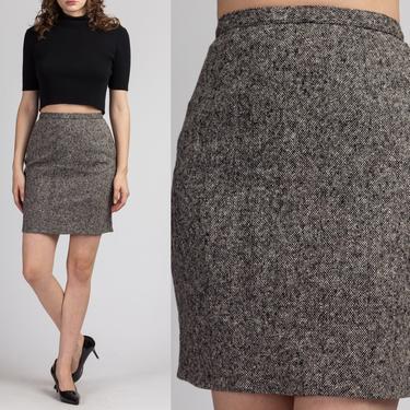 80s BCBG Mini Pencil Skirt - Small | Vintage Gray Knit High Waist Preppy Schoolgirl Skirt by FlyingAppleVintage