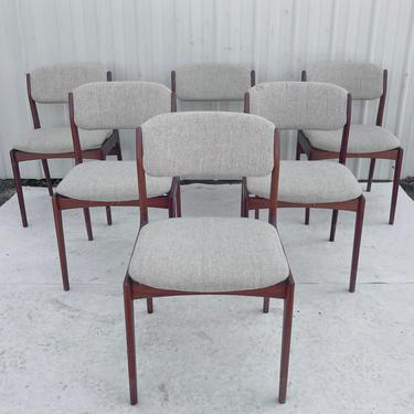 Vintage Modern Teak Dining Chairs- Set of Six by secondhandstory