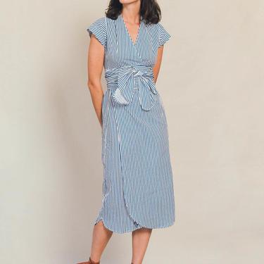 Stripe Muse Wrap Dress