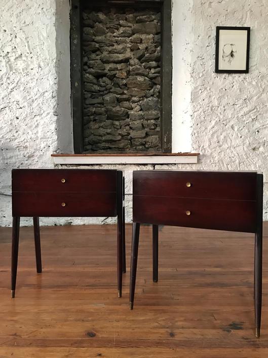 Mid century nightstand italian modern side table mid century modern end table by VintaDelphia