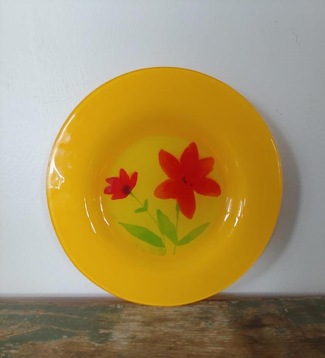 Vintage Glass Plate by Dibbern Germany by ModandOzzie