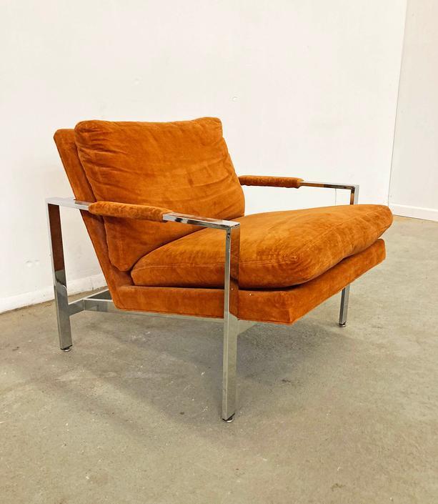 Vintage Mid-Century Modern Milo Baughman Thayer Coggin Chrome Lounge Chair by AnnexMarketplace
