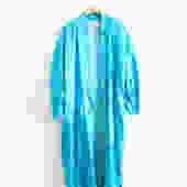 Vintage Turquoise Blue Silk Kimono by LooseGoods