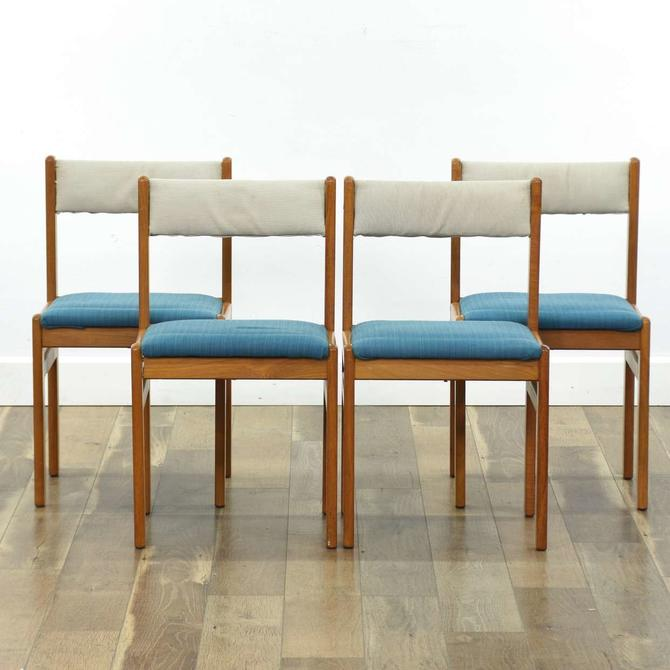 Set Of 4 Gangso Møbler Danish Modern Teak Dining Chairs