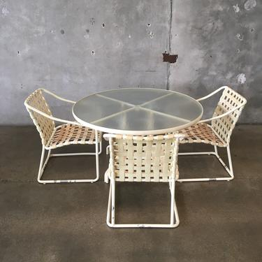 Brown Jordan Patio Set with Table & Three Chairs