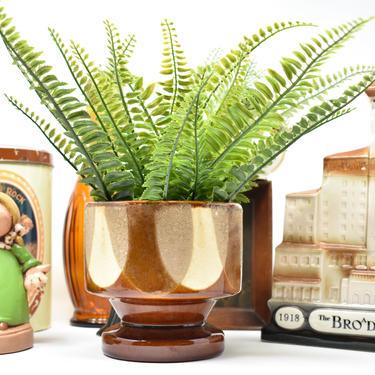 Mid-Cent Mod Planter; 70s Haeger Pedestal Vase; Unique Funky Chic Succulents Pot by LostandFoundHandwrks