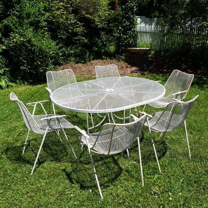 Russell Woodard Sculptura Outdoor Patio Dining Set