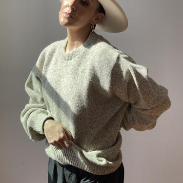 Vintage Marled Oversized Wool Sweater   Lands End Wool Sweater by ShopLaTierra
