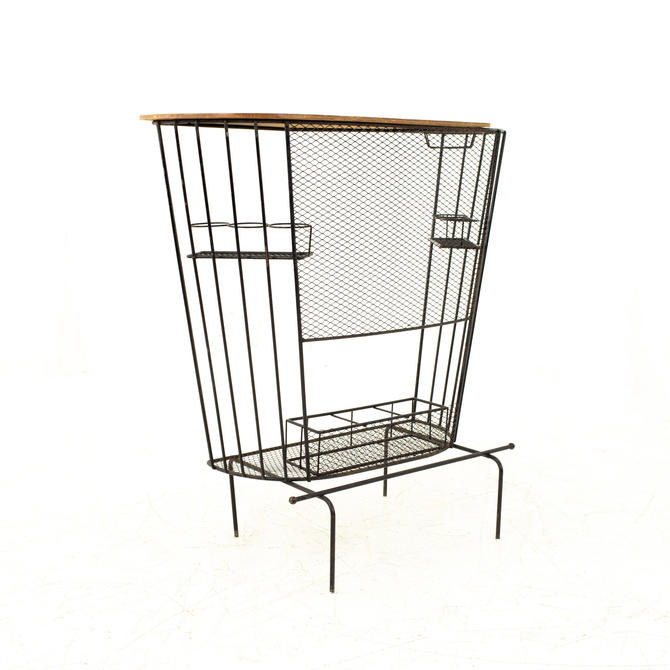 Tony Paul Mid Century Wrought Iron Compact Bar - mcm by ModernHill
