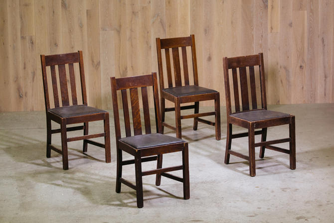 Set of Four Mission Dining Chairs