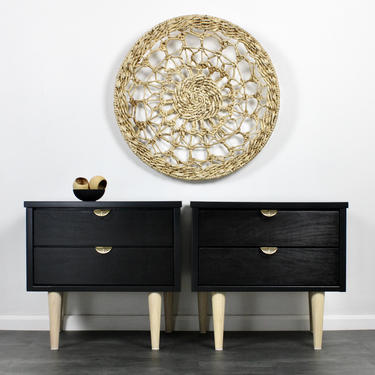 Mid Century Modern Bedside Tables / Nightstands by ReNuvoDesign