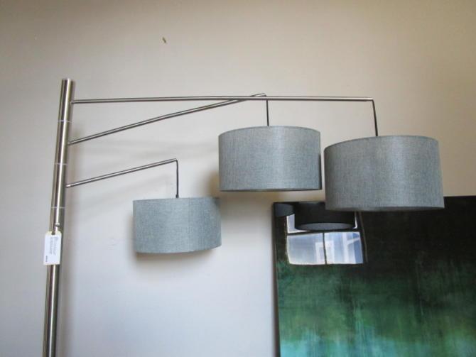 MODERN THREE LIGHT ARC LAMP