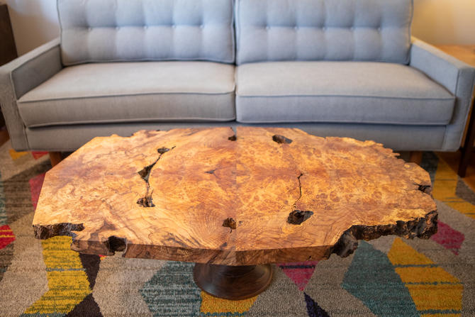 Spalted Maple Burl Coffee Table by MathesonWoodwork