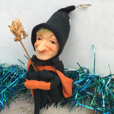 Vintage Witch Knee Hugger Figure, Halloween Decor, Witch Pixie, Crone, Hag, Kitchen Witch, Made In Japan by luckduck