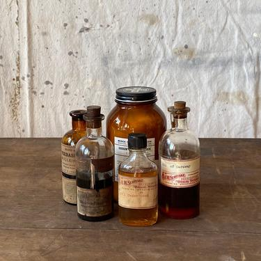 Vintage Medicinal Bottle Lot Brodhead, Wisconsin Apothecary Pharmacy Decor Display by NorthGroveAntiques