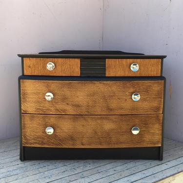 Mid-Century Stag 4-Drawer Dresser