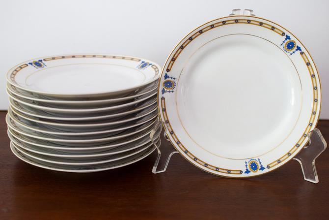 Set of 12 Bread Plates in Beverly Pattern by Noritake by CapitolVintageCharm