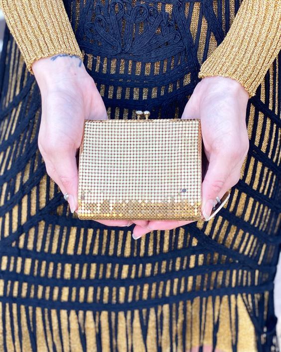 CK734 Gold Mesh Wallet