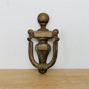 Vintage Brass Door Knocker by DelveChicago