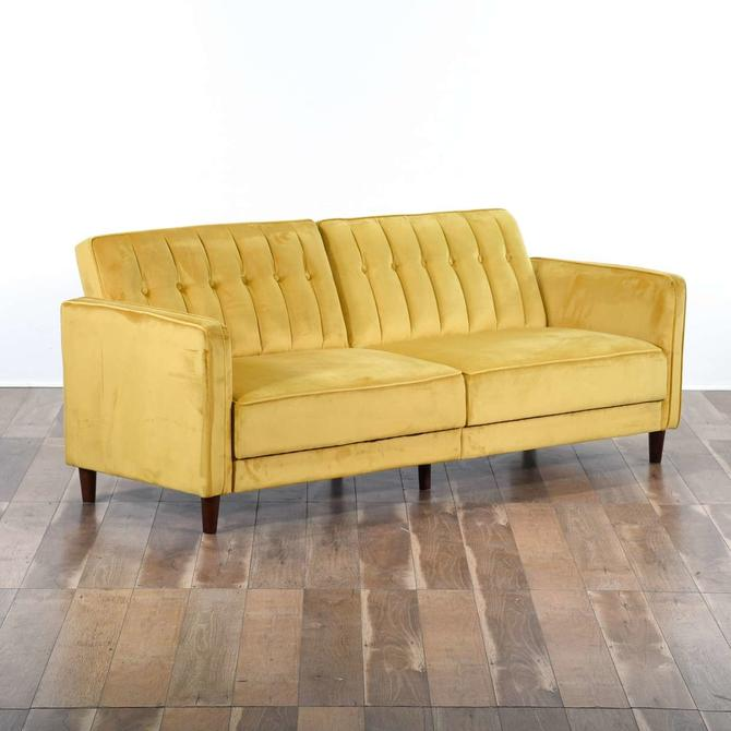 Willa Arlo Interiors Nia Sleeper In Mustard Yellow