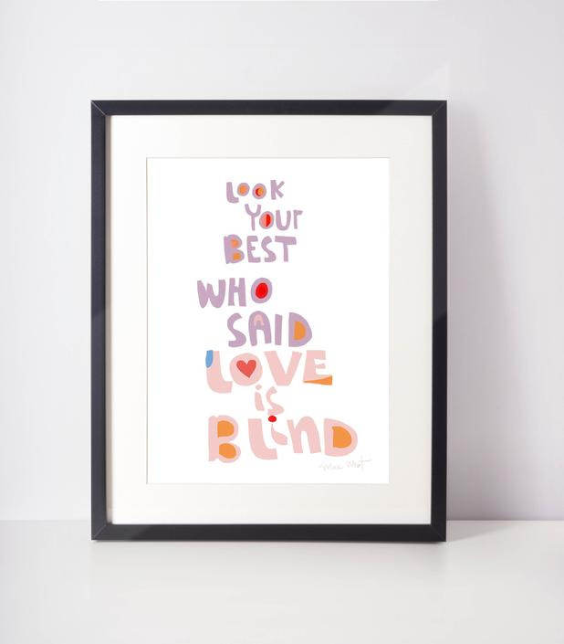 Look your best Art Print cool inspiration to start a day a life a new chapter in life by VioletredStudio