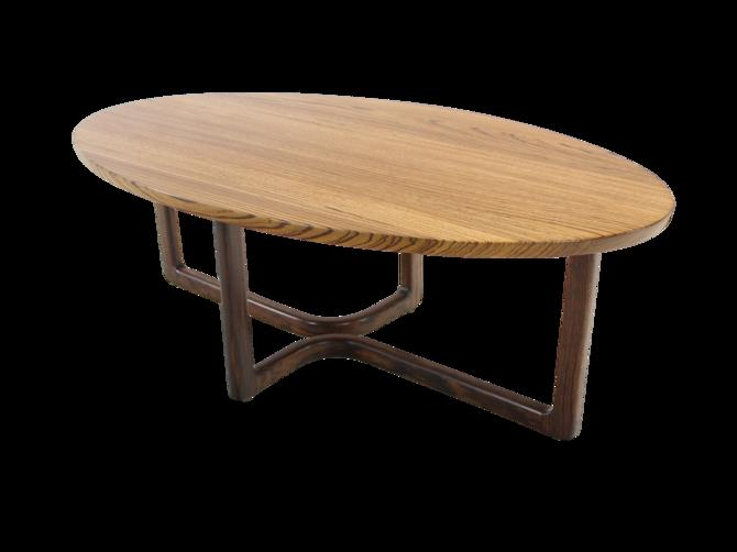 Custom Designed American Studio Craft Coffee Table by David Ebner