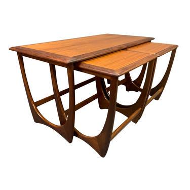 "Vintage British Mid Century Modern Teak ""Astro"" Coffee & Nesting Tables by G Plan by AymerickModern"