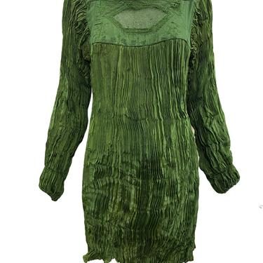 Afghani Blouse Sage Green Broomstick Pleated