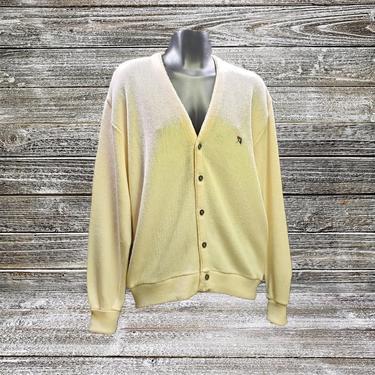 Vintage Arnold Palmer Sweater MEDIUM, Vintage Cardigan Sweater, Unisex Mens Sweater, Preppy Button Front Golf Sweater, Vintage Clothing by AGoGoVintage