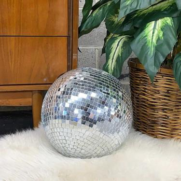 """Vintage Disco Ball Retro 1990s Contemporary + 37"""" Diameter + Mirrored Ball + Party and Ceiling Decor + Backdrop and Prop + Party Supplies by RetrospectVintage215"""