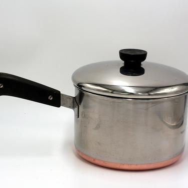 vintage revere ware 3 quart saucepan/copper clad bottom/double ring mark by suesuegonzalas