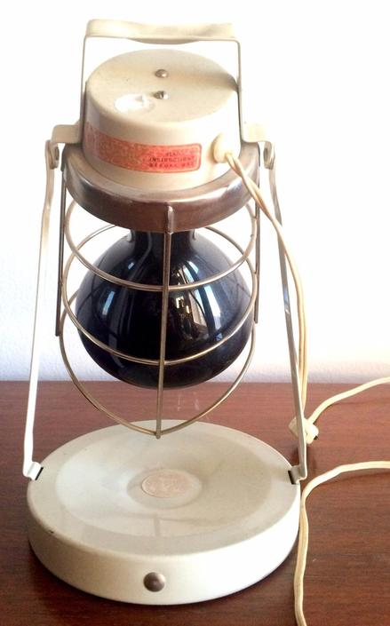 Vintage Heat Lamp Table Wall Lamp Wire Cage Steampunk