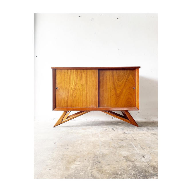 Sculptural Mid Century Mexican Modern Buffet or Console by FlipAtik