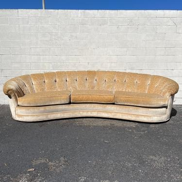 Gorgeous Sofa Hollywood Regency Couch Art Deco Curved Elegant Tufted Mid Century Modern Loveseat Formal Seating Cushions Glam Retro Vintage by DejaVuDecors