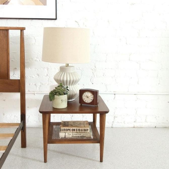 Rattan Square Side Table