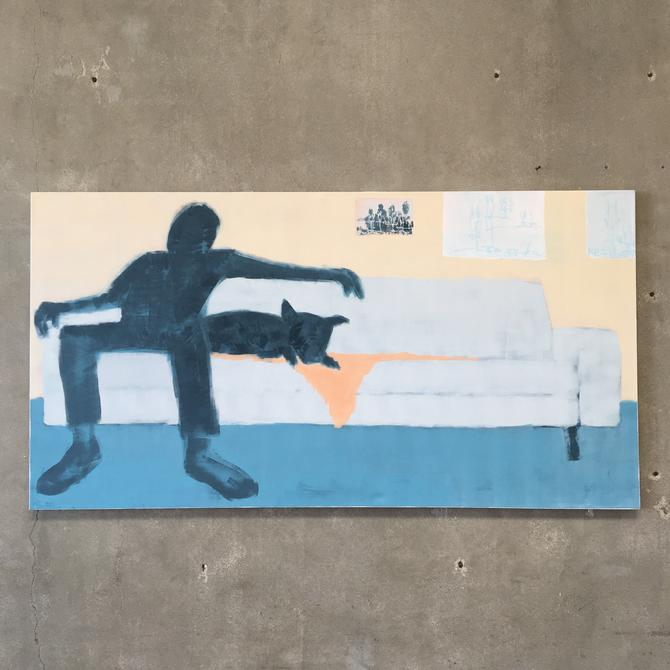 "Large Painting by Bert Esenherz ""Buddies"""