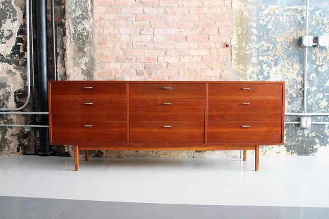 Danish Teak 9 Drawer Dresser