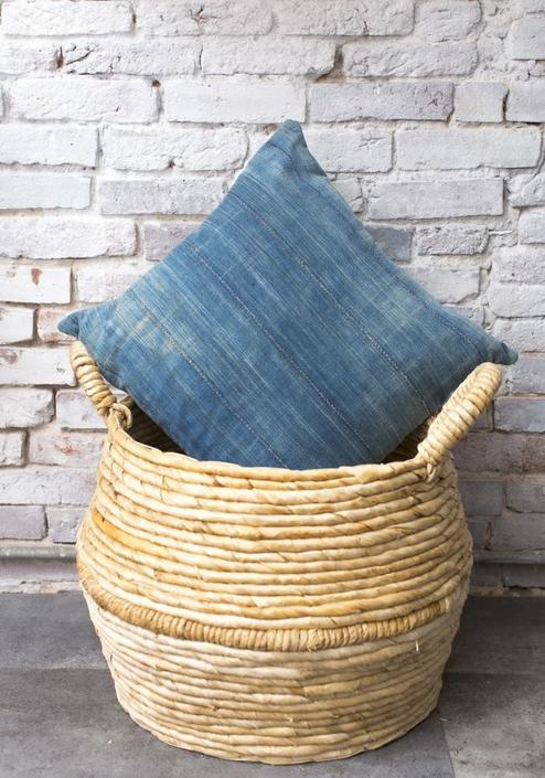 Wampa African Mud Cloth Throw Pillow