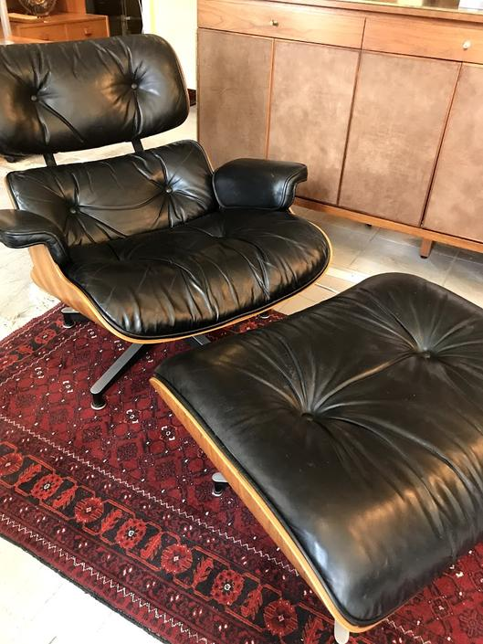 Vintage Lounge Chair & Ottoman, Model 670/671 by Charles & Ray Eames for Herman Miller VERSION 3