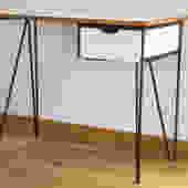 Mid-Century Modern Hairpin Leg Desk
