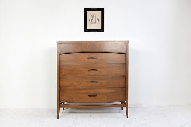 Vintage tallboy 5 drawer dresser with formica top | Free delivery in NYC and Hudson ares by OmasaProjects