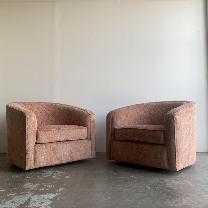 Mid Century Barrel Chairs- Pair by VintageOnPoint