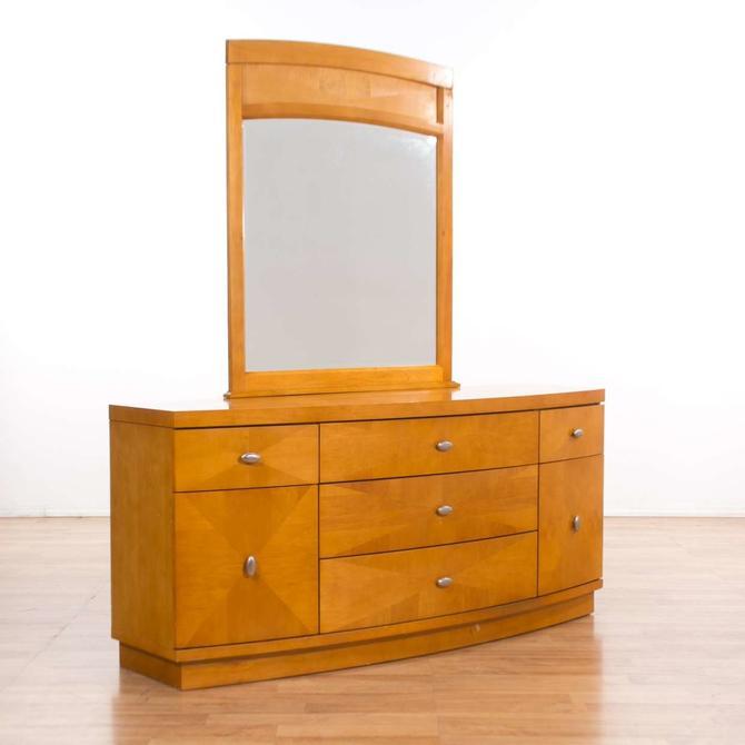 Italian Modern Long Dresser W/ Mirror