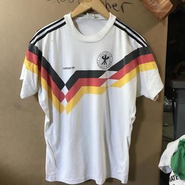 Vintage Adidas Germany Soccer jersey Graphic Tee t-shirt Deutscher Fussball-Bund 3445 by TCWOnline