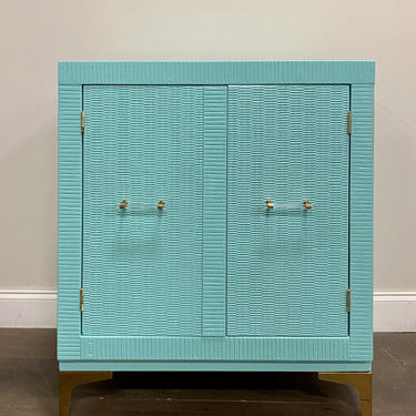 AVAILABLE: Teal Lacquered Chest / Nightstand / Cabinet by VintageRefinedDecor